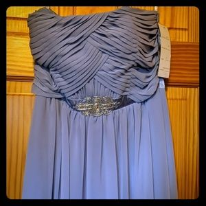 Periwinkle floor length gown size 8 NWT